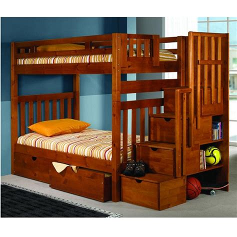 step bunk bed bunk bed with steps mission bunk bed with storage