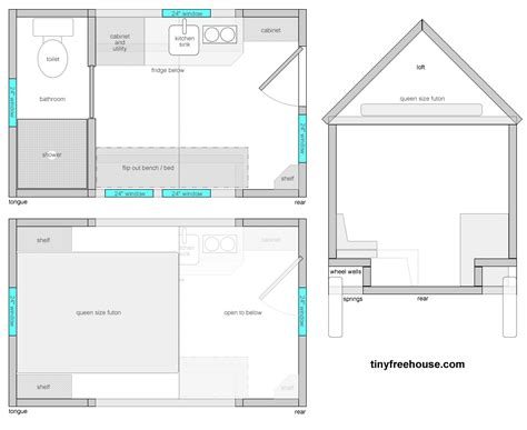 tiny house trailer floor plans the trailer informs the floor plan tiny free house