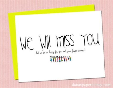 new home card template instant print we will miss you card miss you card