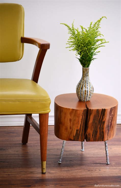 diy furniture legs uk tree stump side table stump table with metal legs root coffee tables root tables log