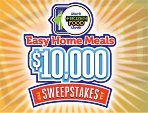 Easy Entry Sweepstakes - enter the easy home meals 10 000 sweepstakes