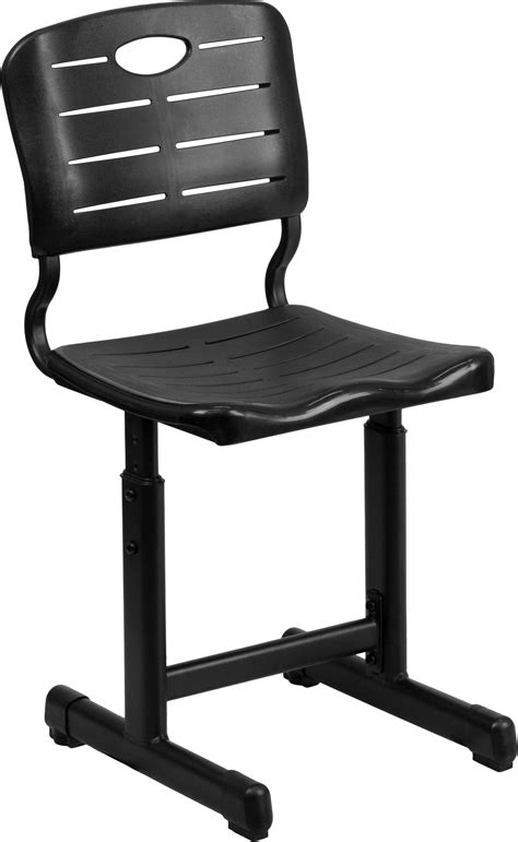 height adjustable recliner chair flash furniture adjustable height black student chair with