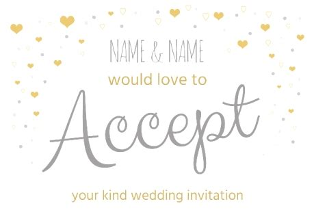 acceptance card template invitation acceptance images invitation sle and