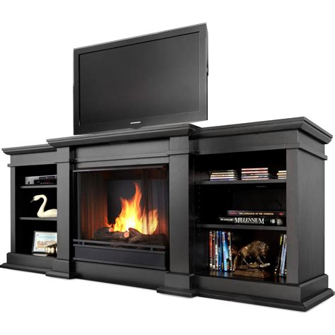 real fresno 71 inch gel fireplace media console