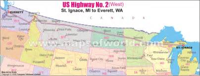 us highway no 2 west map st ignace mi to everett