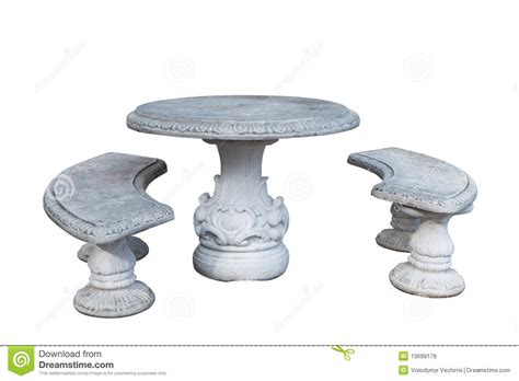 stone table and benches stone table and benches royalty free stock images image