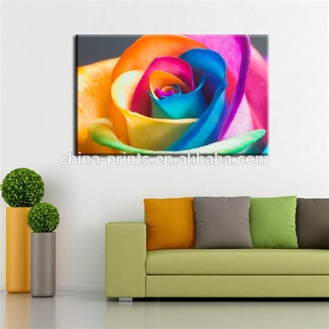 framed wall art for living room colorful rose flower canvas prints art new wall decor art