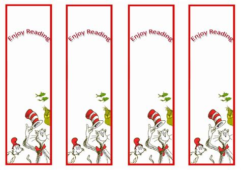 printable bookmarks dr seuss dr seuss bookmarkds birthday printable