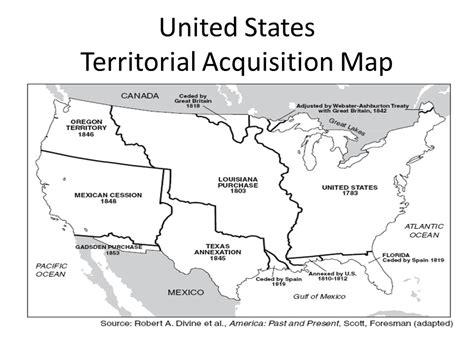 territorial acquisitions map manifest destiny unit ppt