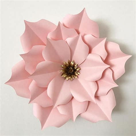 giant paper flowers pattern pdf petal 5 paper flower template digital version