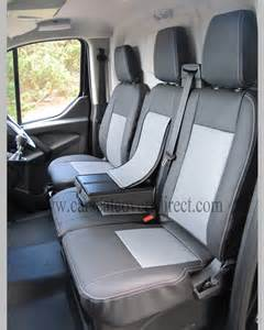 Seat Covers For Ford Transit Custom Ford Transit Custom 6th Black Grey Seat Covers