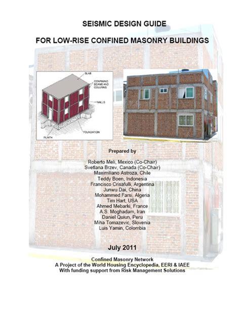 masonry layout guide confined masonry guidelines