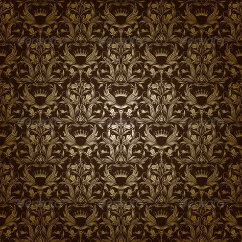 brown royal pattern damask seamless floral pattern graphicriver