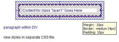 Layout Css Filters Enabled   an overview of css in dreamweaver 8 visual display in