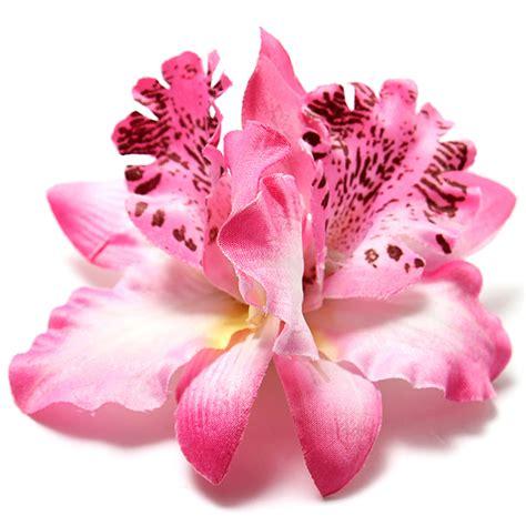 Orchid Hair Clip Sky Blue buy womens bridal wedding orchid flower leopard hair clip