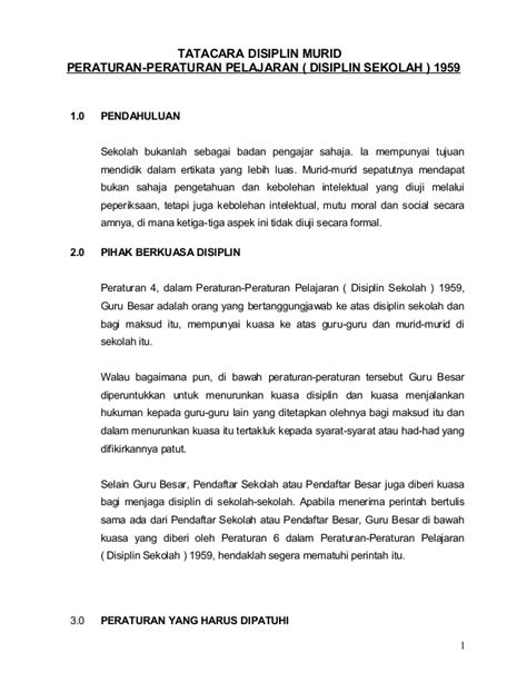 School Of Panduan Murid tatacara disiplin murid 8 4 2008