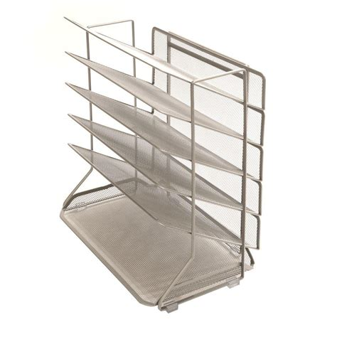 Seville Desk Organizer Seville Classics Size 6 Tier Desk Wall Organizer In Chagne Platinum Off42667b The
