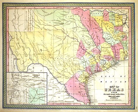 texas map 1850 map of texas c 1850 cowperthwait m 8002 0 00 antique manuscripts maps prints