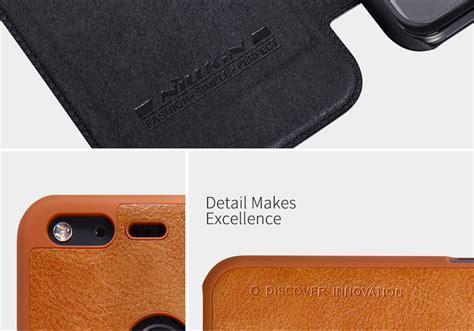 Nillkin Qin Series Leather For Pixel Merah nillkin qin series leather for pixel xl