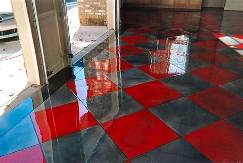 diy metallic epoxy garage floor the wooden houses