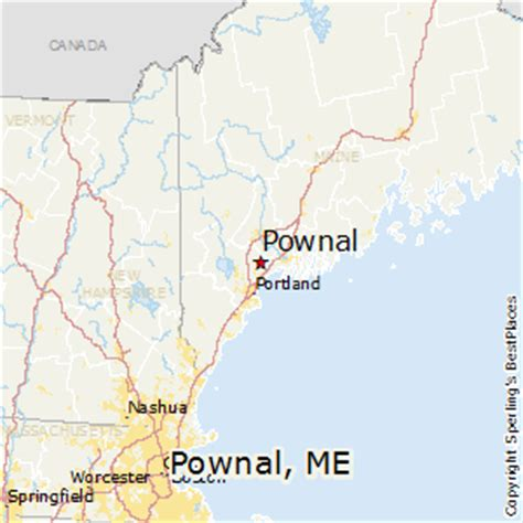 show me a map of maine best places to live in pownal maine