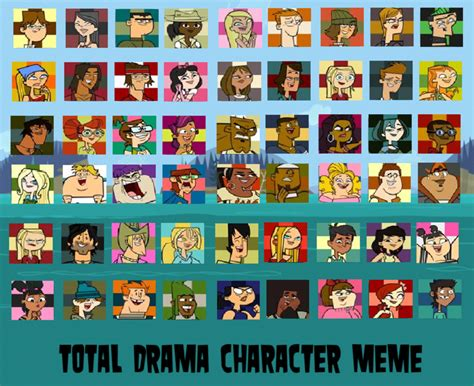 All Meme Characters - total drama top 54 characters meme by td23120 on deviantart