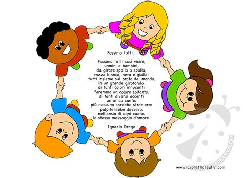 di bambini filastrocche per l accoglienza dei bambini