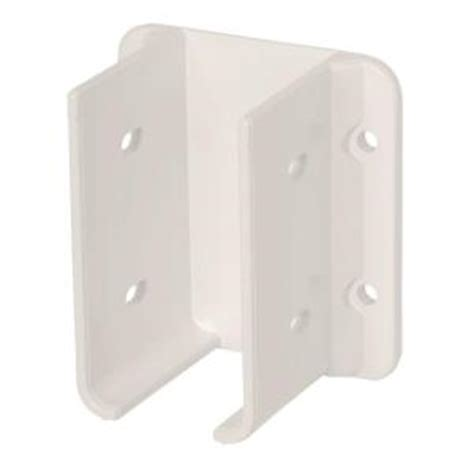 veranda white vinyl hurricane proof fence bracket kit 2