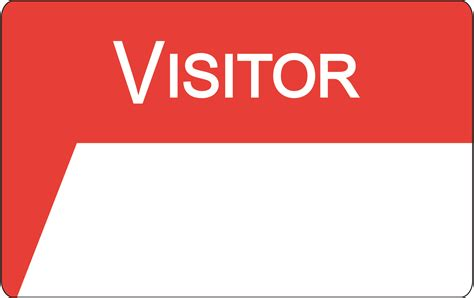 visitor badge template visitor badge images