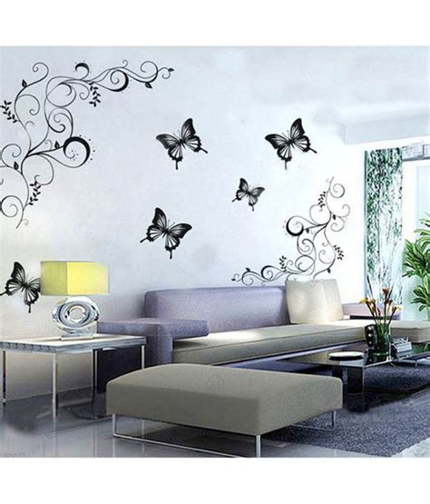 buy wall stickers stickerskart flowers trees vinyl wall stickers price at flipkart snapdeal ebay