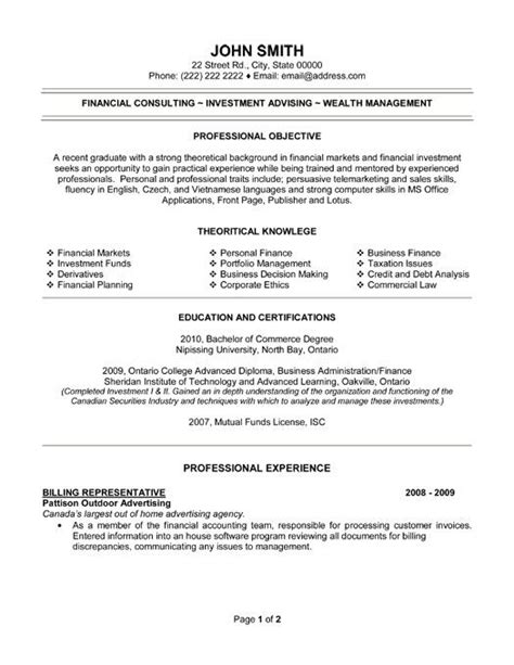 Billing Representative Sle Resume by 1000 Images About Best Accounting Resume Templates Sles On Entry Level