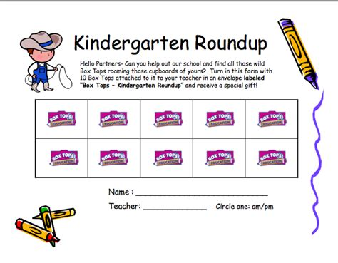 box tops for education collection sheet from the pto today