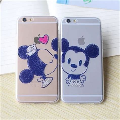 Softcase Iphone 6 Plus 6s Plus Mickey for iphone 6 6s 6s plus painted mickey minnie mouse style soft back