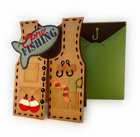 fishing vest card template needles n knowledge fishing vest card assembly notes