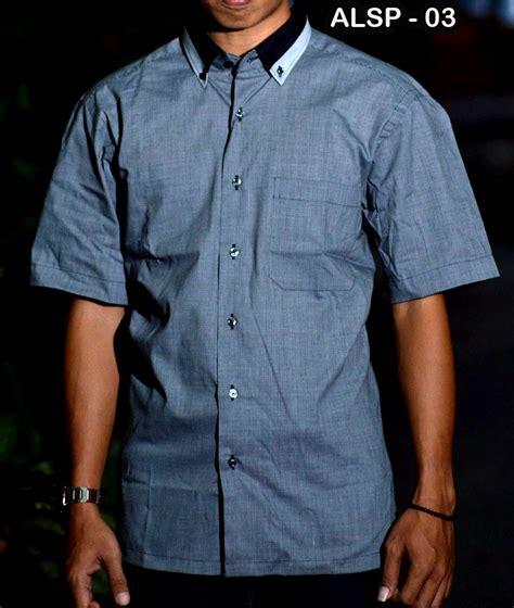 Baju Batik Kemeja Pria Slim Fit Lengan Pendek Keren Kode Ob 320 kemeja pria lengan pendek alisan busanamuslimpria