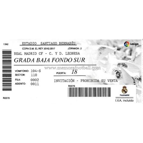 entradas atletico de madrid real madrid copa del rey real madrid vs cultural leonesa 30 11 2016 copa del rey ticket