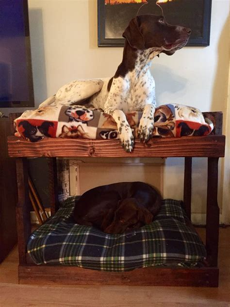 dog bed attached to your bed diy dog bunk beds 8 steps with pictures