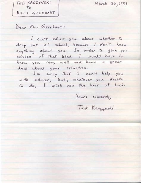 Unabomber Letters
