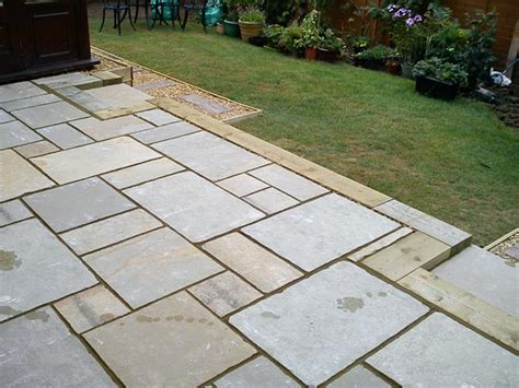 Limestone Patio garden design northton