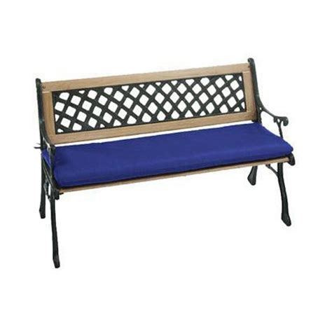 blue outdoor bench home decorators collection sunbrella blue outdoor bench