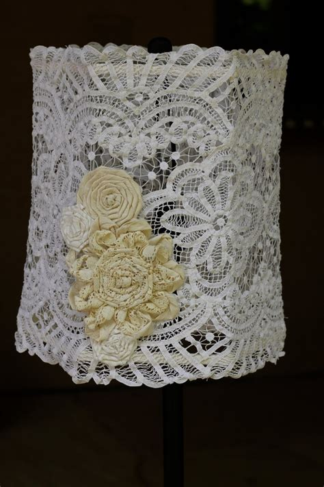 handmade vintage doily shabby chic lampshade by