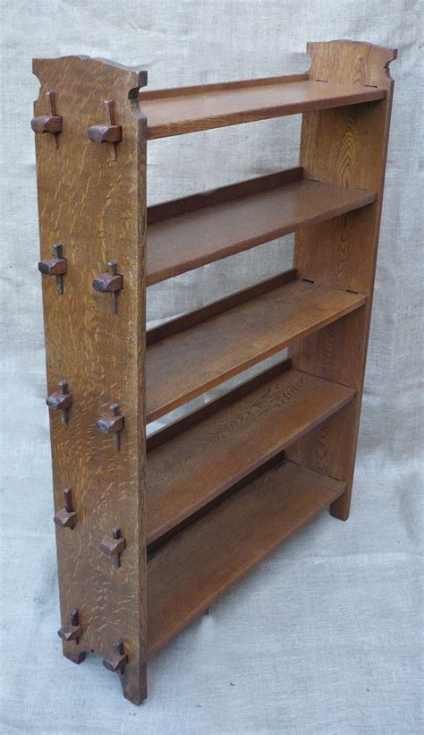 arts and crafts bookcase arts and crafts bookcase of pegged construction antiques