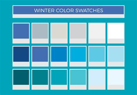 color swatches free winter vector color swatches download free vector
