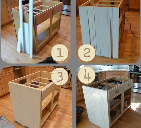 Build A Kitchen Island With Seating Gray Diy Kitchen Island Using Ikea Cabinets With Stock Sink With Dishwasher Ideas Seating Carts