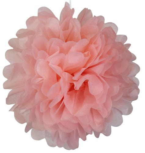 Carnation Paper Flower - tissue paper pom pom flower 8inch carnation pink