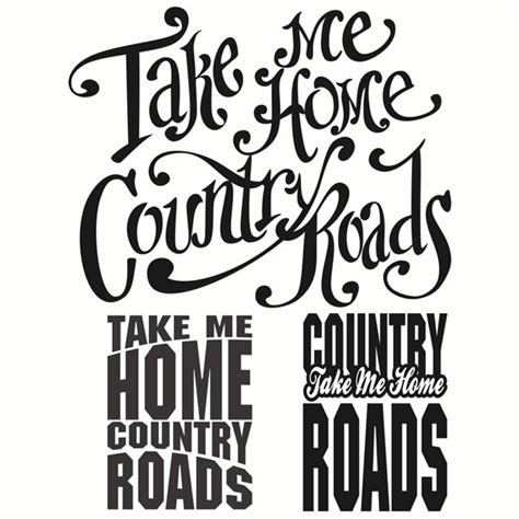 West Virginia Country Roads Cuttable Designs