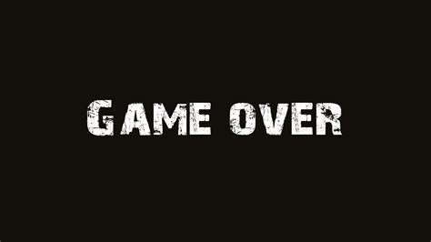 wallpaper game over game over brown text wallpapers