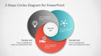 powerpoint diagram templates 3 step circles diagram for powerpoint slidemodel