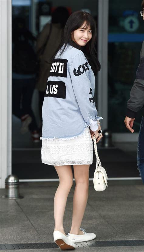Slim N Fit For Uf plum gabrielle 150404 소녀시대 윤아 출국 for중국 드라마 촬영 스웻