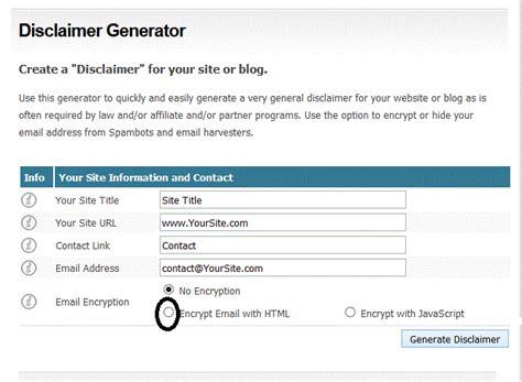 cara membuat blog atau website cara membuat disclaimer pada blog atau website dengan